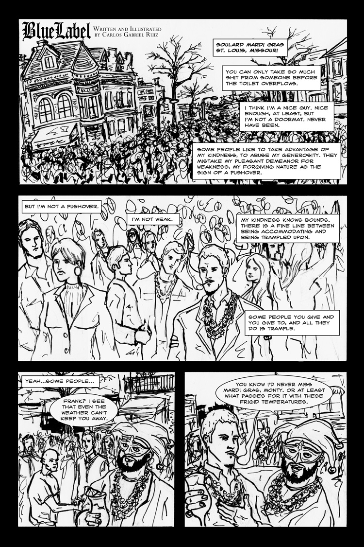 Blue Label Page 1 from Spirits of St. Louis