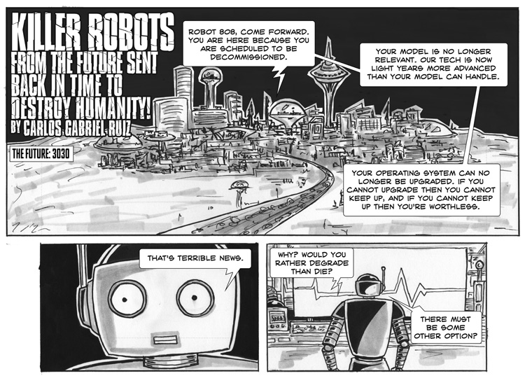 Killer Robots from the Future – Free Comic Book Day – Page 1