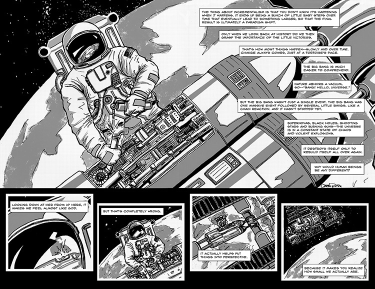 The Last Human in Space pg.2-3