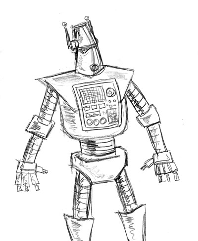 Robot Sketch Drawing Cool Robot Sketch